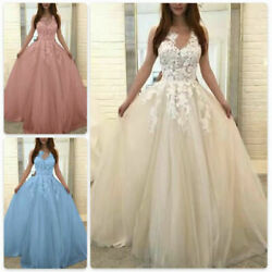 Womens Wedding Formal Dresses Bridesmaid Evening Party Ball Gown Prom Long Dress $40.95