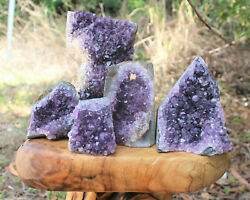 Clearance Amethyst Cut Base Crystal Geodes Natural Quartz Cluster Specimens $19.95