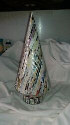 VINTAGE CHRISTMAS CONTEMPORARY RECYCLED PAPER TREE $17.99