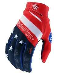 Troy Lee Designs 2020 Men#x27;s Air MTB Gloves Stars amp; Stripes Red Blue All Sizes $30.00