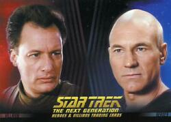 Star Trek TNG Heroes and Villains promo card P1