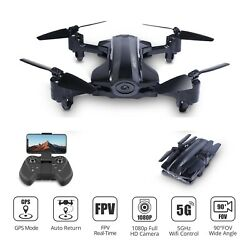 Foldable GPS drone with 1080P HD camera 5G wifi FPV RC quadcopter HQ912 tapfly $109.99