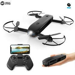 Holy Stone foldable Drone with HD Camera Optical Flow FPV RC quadcopter +SD card $72.99