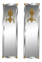 49076EC: Pair LABARGE 8259 28 Mirrored Wall Accents NEW $695.00