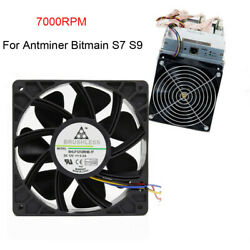 60007500RPM Cooling Fan Replacement 4-pin Connector For Antminer Bitmain S7 S9 $17.85