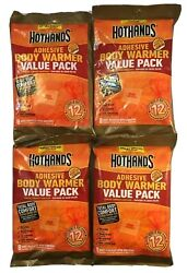 HotHands ADHESIVE BODY WARMERS Lot of 32 Pairs 4x8pk Safe 12-Hr Heat $21.99
