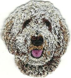 2quot; Tall White Golden Doodle Portrait Dog Breed Patch $2.99