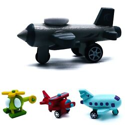Wooden Planes and Helicopters Toddler Toy Learning Shape and Color of Vehicle $9.39