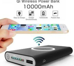 Portable Mini Power Bank Qi Wireless Charging Battery Phone Charger USB $19.97