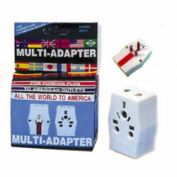 Multi Adapter Travel Europe to USA Power Plug Adaptor Converter AC Uk Au Charger $7.99