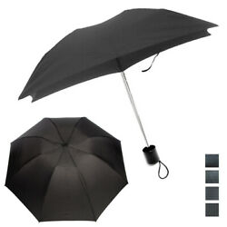 1 Mini Folding Compact Umbrella Travel Portable Black Super Light UV Protection $6.99
