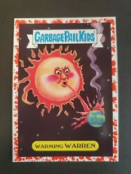 2017 Garbage Pail Kids Adam-Geddon Bloody Border Natural 1b Warming Warren $7.95