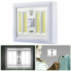 4COB LED Wall Lamp Switch Wireless Battery Operated Closet Cordless Night Light $7.99