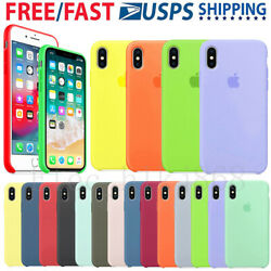 For Apple iPhone X XR XS Max 7 8Plus Original Silicone Genuine Luxury Case Cover $9.56