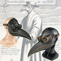 Plague Doctor Mask Birds Mouth Long Nose Beak Faux Latex Steampunk for Halloween $14.99