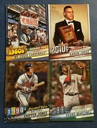 2020 Topps Series 1 Inserts Decade#x27;s Best with Chrome Blue Green You Pick $9.99