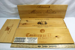 Lot of 4 Premium Wood Wine Panels Pieces - Chile - France - Italy - ID#0418 $27.99
