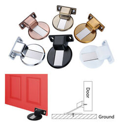 New Invisible Stainless Steel Anti-Collision Magnetic Door Stopper Floor Mounted $3.83