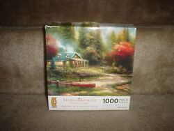 1000 PC. THOMAS KINKADE  THE END OF A PERFECT DAY III  JIGSAW PUZZLE NEW $29.95