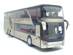 BUS TOY 1:32 DOUBLE FLOOR GOLD COLOR MODEL BUS FLASH TOY VEHICLE FOR KIDS GIFT $44.99