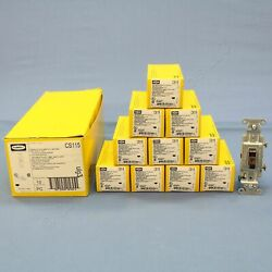10 Hubbell Bryant Brown COMMERCIAL Toggle Wall Light Switches 15A 120277V CS115 $19.99