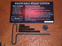 Jacoby Replacement Weight Bolt Kit Includes Rubber Bumper. For your pool cue. $25.00
