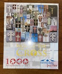 New Sign of the Cross 1000 Piece Jigsaw Puzzle 27 x 19 Rainy Day Puzzles $24.99