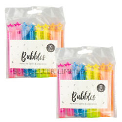 16 Kids Star Bubble Tubes Boys Girls Party Bag Fillers Childrens Wedding Favours GBP 3.88