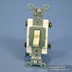 Leviton Ivory DOUBLE POLE Commercial Toggle Switch 20A CSB2-20I $8.22