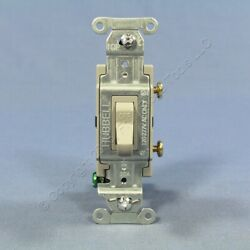 Hubbell Bryant Gray COMMERCIAL Toggle Wall Light Switch Single Pole 15A CS120GY $5.85