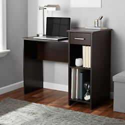 Student Desk Table Project Dorm Computer Laptop Home Office Shelving Wood Drawer $92.46