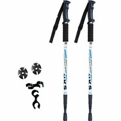2pcs lot Anti Shock Nordic Walking Sticks Telescopic Trekking Hiking Poles $30.28