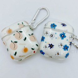 Apple Airpods 1 2 Charging Case Clear Cute Cover Soft Silicone Girls Keychain $7.99