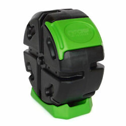 FCMP Outdoor Half Size 19 Gallon Plastic Rolling Composter Tumbler Bin Green $56.99