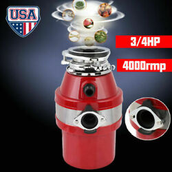 3 4HP Commercial Garbage Disposal Continuous Feed Food Kitchen Waste 4000 RPM US $113.91