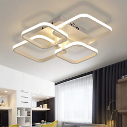 LED Ceiling Light Fixture Dimmable with Remote Control Modern Lamp For Bedroom $87.58