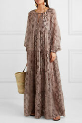 BNWT STELLA MCCARTNEY BEACH SUMMER SNAKE PRINT RUFFLE MAXI DRESS KAFTAN XS £1100