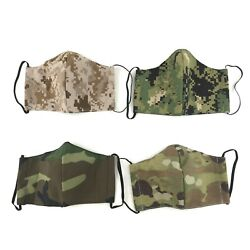 Military Cloth Face Mask US Army Navy Camo Uniform Reusable Washable Cover $14.99