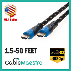 HDMI Cable 1.4 HDTV BluRay 1080P Gold Plated PS4 PS3 XBOX HD 1.5-50FT lot $9.79