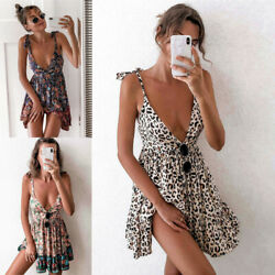 Sundress Summer Women Sexy Party Dresses Cocktail Boho Evening Beach Mini Dress $13.50
