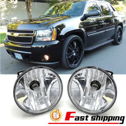 Fits 2007-2013 Chevy Avalanche Suburban Tahoe GMC Clear Fog Lights Driving Lamps $16.02