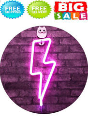 Decorative Lights Wall Decor for  Home Lightning Neon Signs Pink NEW $22.79