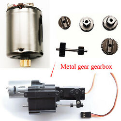 Metal Gear Speed Gearbox Upgrade Motor Set for WPL B14 B36 C24 C34 4WD 6WD Truck $11.30