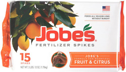 Jobe#x27;s Fertilizer Spikes Fruit and Citrus Tree for Apple Peach Cherry Nut Trees $16.48