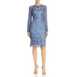 Tadashi Shoji Womens Sequined Midi Party Sheath Dress BHFO 6907