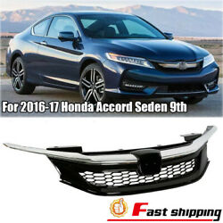 Fits Honda Accord Seden 2016-2017 9th Sport Style Grill Honeycomb Front Grille $90.99