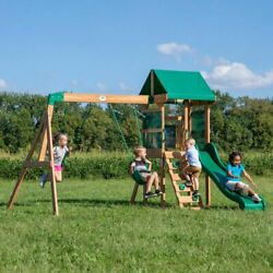 Backyard Swing Set Buckley Cedar Wooden Outdoor Playground Playset Kids $1,239.90