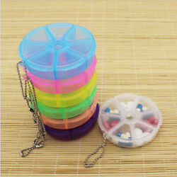 2pcs Pill Box Medicine Dispenser 7 Days Tablet Organizer Candy Jewelry Storage $7.05