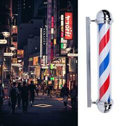 283236 Inch Rotating Barber Pole Light Stripes Hair Salon Sign Red Blue White $90.36