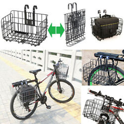 NEW Foldable Mountain Bicycle Bike Basket Front Rear Metal Wire Storage Carrier $20.99